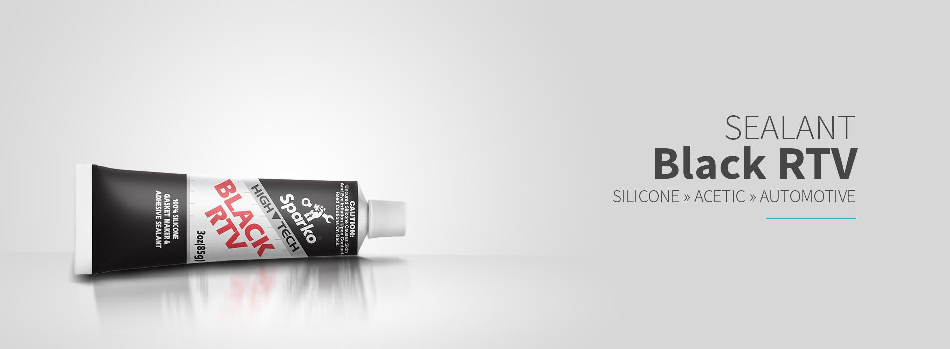 OCI Sparko Black RTV Silicone - 100% Silicone Rubber, Gasket Maker & Adhesive Sealant