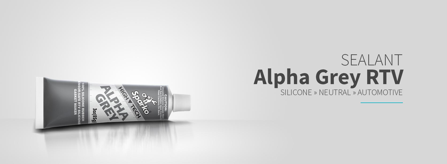 OCI Sparko Alpha Grey RTV Silicon - 100% Silicon Rubber Gasket Maker