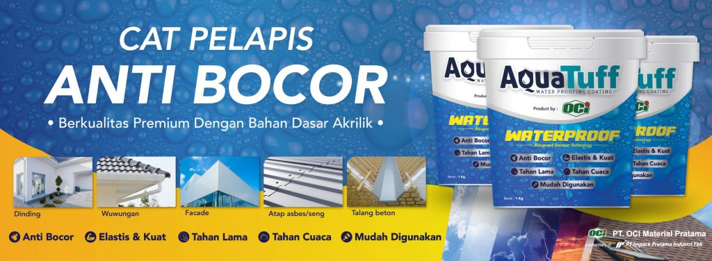 aquatuff cat waterproof pelapis anti bocor