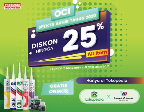 Diskon hingga 25% untuk semua produk OCI Indonesia